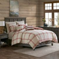 Madison Park Signature Willow Oak Reversible King Comforter Set in Red
