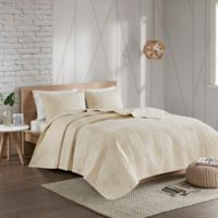 Urban Habitat Caden King/California King Reversible Coverlet Set in Ivory