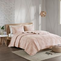 Urban Habitat Caden Reversible Full/Queen Coverlet Set in Blush
