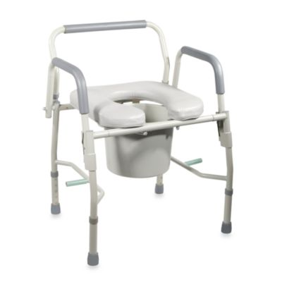black padded toilet seat. Drive Medical Deluxe Steel Drop Arm Commode With Padded Seat Buy Toilet Seats from Bed Bath  Beyond