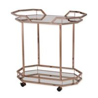 Southern Enterprises Ari Art Deco Bar Cart in Champagne