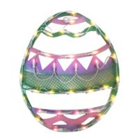 Northlight 15.75-Inch Lighted Easter Egg Window Silhouette in Green