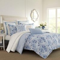 Laura Ashley® Mila Blue Twin Comforter Set