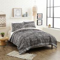 Justina Blakeney Piazza Stripes Twin XL Comforter Set in Black