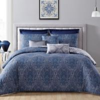 Addison Home Candice Reversible King Comforter Set in Navy