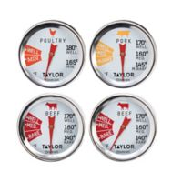 Meat Grilling Cooking Thermometers (Set of 4)