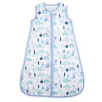 aden® by aden + anais® Large Dinos Muslin Wearable Blanket in Blue