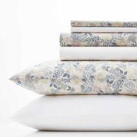 Laura Ashley® Sugar Almond Floral/Dots Blush King Sheet Set