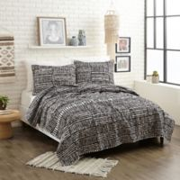 Justina Blakeney Piazza Stripes Twin XL Quilt Set in Black