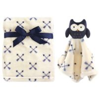 Hudson Baby® Owl Plush Security Blanket Set in Blue