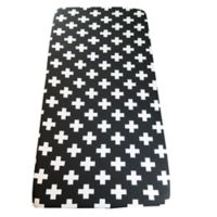 Wildfire Teepees® Cross Fitted Crib Sheet in Black/White