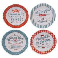 Certified International Country Fresh Canape Plates (Set of 4)