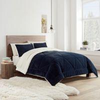 UGG® Avery Reversible Full/Queen Comforter Set in Navy