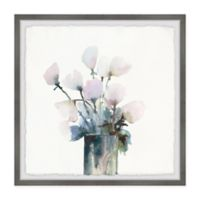 Marmont Hill Fresh Flowers 12-Inch Squared Framed Wall Art