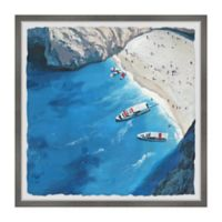 Marmont Hill The Beach Is Calling 12-Inch Squared Framed Wall Art