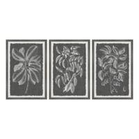 "Marmont Hill 3-Piece Graphic Foliage VI 24"" x 12"" Framed Wall Art Set"