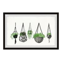 "Marmont Hill 24"" x 16"" Hanging Plants III Framed Wall Art"