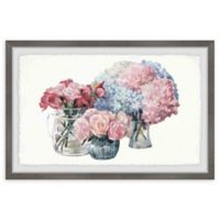 Marmont Hill Flower Bouquets 12-Inch x 8-Inch Framed Wall Art