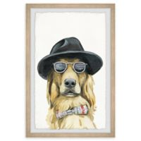 Marmont Hill Dog Detective 12-Inch x 18-Inch Framed Wall Art