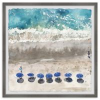 Marmont Hill Blue Sunshade II 12-Inch Squared Framed Wall Art