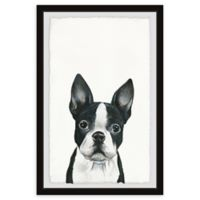 Marmont Hill Curious Doggy 12-Inch x 18-Inch Framed Wall Art