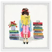 Marmont Hill Bookworm II 12-Inch Squared Framed Wall Art