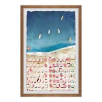 Marmont Hill Packed Beach II 20-Inch x 30-Inch Framed Wall Art