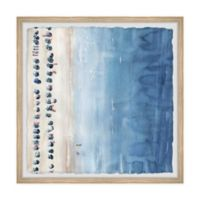 Marmont Hill Blue Sun Loungers II 12-Inch Squared Framed Wall Art