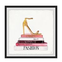 Marmont Hill Fashion Books II 12-Inch Squared Framed Wall Art