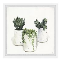 Marmont Hill Dotted Pots 32-Inch Squared Framed Wall Art