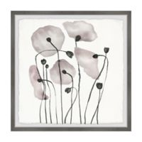 Marmont Hill Pink Poppy Bloom 12-Inch Squared Framed Wall Art