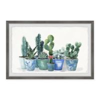 Marmont Hill Potted Cactus Bunch II 18-Inch x 12-Inch Framed Wall Art
