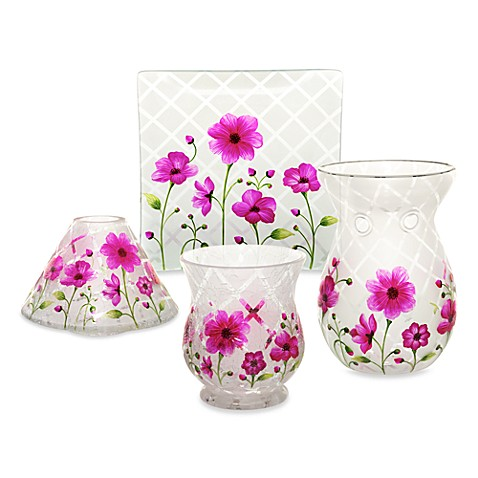 Yankee candle honey blossom crackle candle accessories for Yankees bathroom decor