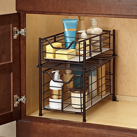 deluxe bathroom cabinet drawer in bronze - Bathroom Cabinets Bed Bath And Beyond
