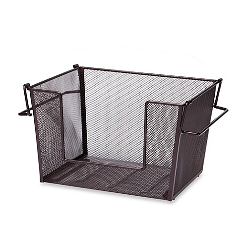 Large Mesh Stacking Basket in Oil-Rubbed Bronze