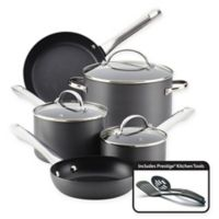 Farberware Nonstick Hard-Anodized 10-Piece Cookware Set in Grey