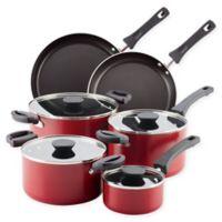 Farberware® Neat Nest™ Nonstick Aluminum 10-Piece Cookware Set in Red