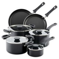 Farberware® Neat Nest™ Nonstick Aluminum 10-Piece Cookware Set in Black