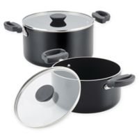 Farberware® Neat Nest™ Nonstick Aluminum 4-Piece Covered Sauce Pot Set in Black