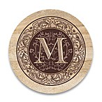 Monogram Letter  M  Coasters (Set of 4)