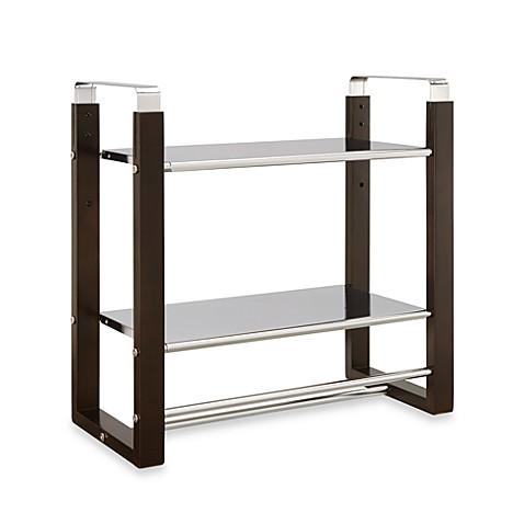 Neu Home 2 Tier Shelf With Towel Bar Bed Bath Beyond