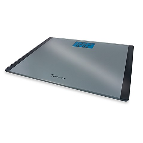 Merveilleux Detecto™ Wide Body Platform Glass Digital Bathroom Scale