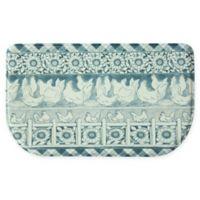 """Bacova Henhouse 18"""" x 30"""" Memory Foam Kitchen Mat in Blue"""