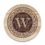 "Monogram Letter ""W"" Coasters (Set of 4)"