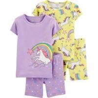 carter's® Size 9M 4-Piece Unicorn Pajama Top and Short Set