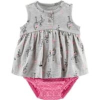 carter's® Size 3M Flamingo Sunsuit in Grey