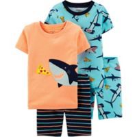 carter's® Size 18M 4-Piece Shark Pajama Set in Orange