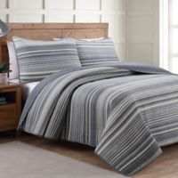 Taj Full/Queen Quilt Set in Grey