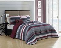 Montara Reversible Queen Comforter Set in Burgundy