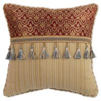 Croscill® Arden 16-Inch Square Throw Pillow in Red